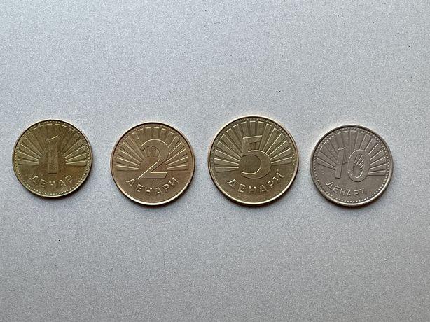Македония монеты набор из 4 монет