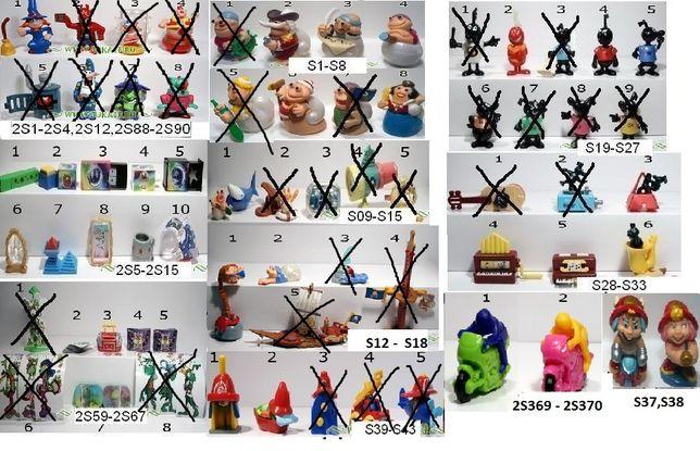 Kinder niespodzianki składane z lat 2004 do 2006 roku.