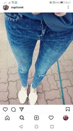 Granatowe spodnie rurki Sinsay 38 M