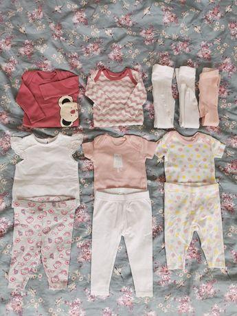 Zestaw ciuszków niemowlęcych r. 50/56 Lupilu, H&M Stan bardzo dobry