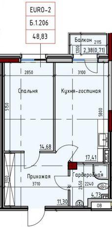 1-комнатные апартаменты у моря Пространстве на Дачной 13 ст. Фонтана