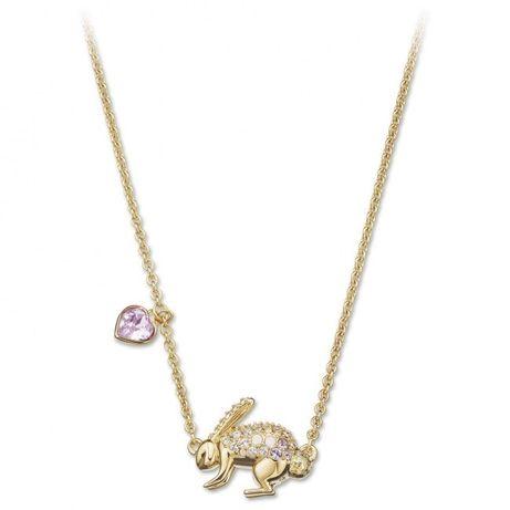 naszyjnik swarovski króliczek złoty kryształy