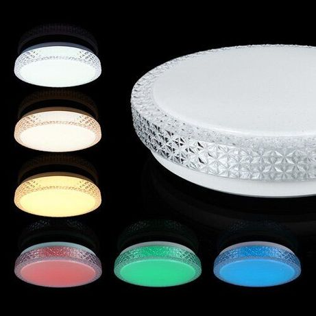Люстра LED-светильник светодиодный RGB 70Вт с д\у музыкальный