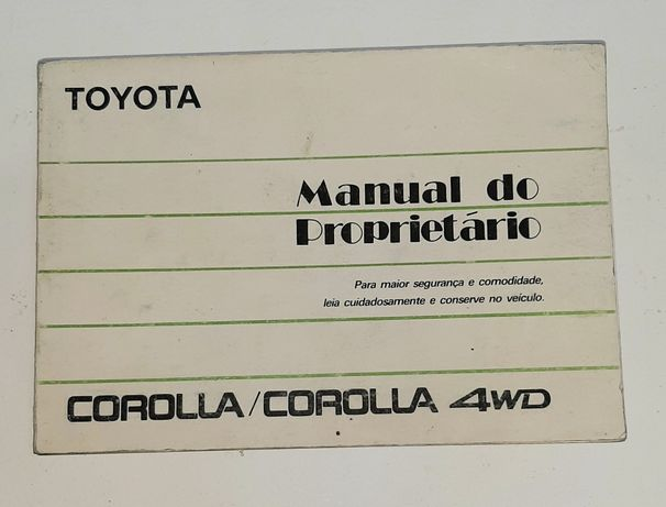 Manual do Proprietário Toyota Corolla