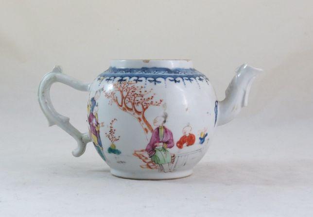 Bule Porcelana Chinesa Companhia das Índias Família Rosa 11cm