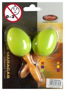 Marakasy plastikowe zielone Stagg EGG MA S/GR para