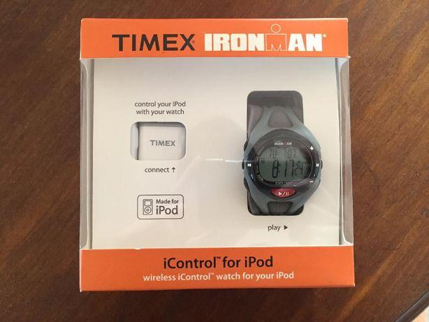Timex Ironman iControl para Ipod 50 Lap Memory Silver [BAIXA DE PREÇO]