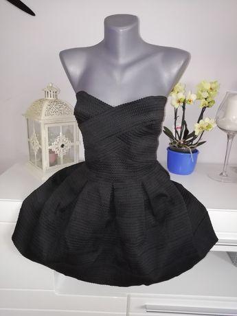 Sukienka czarna 38 M gorset
