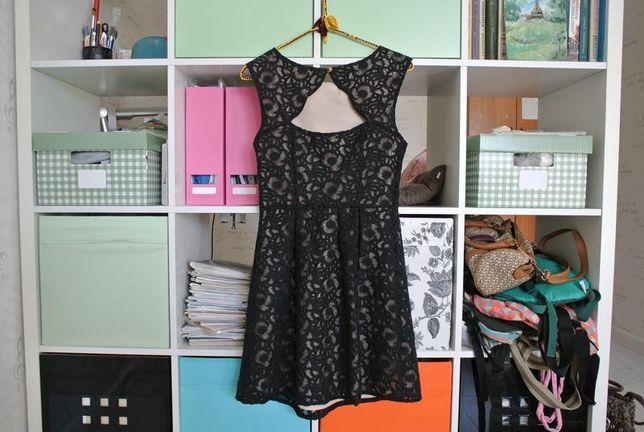 Прекрасное платье на выпускной бал, органза, кремовый подклад, oasis,