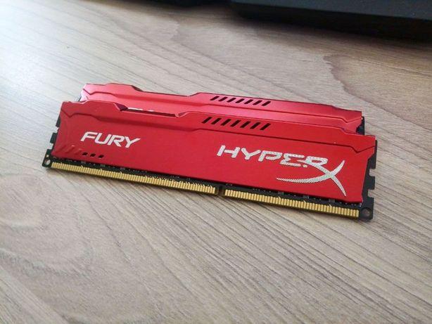 ОЗУ HyperX DDR3 16GB (2x8GB) 1600MHz FURY Red