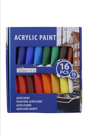 Farby akrylowe tubka zestaw 16*36ml