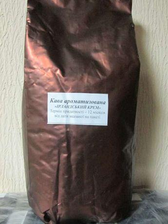 Ароматизированный кофе кава в зернах Ирландский крем Ірландський крем