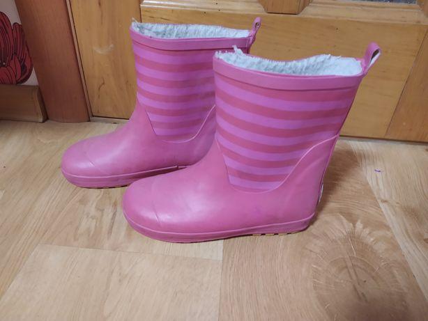 Сапожки резинові утеплені чоботи 20,5см