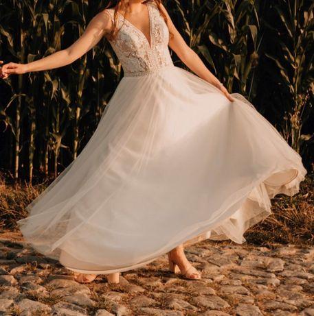 Suknia Ślubna - Ivory Boho