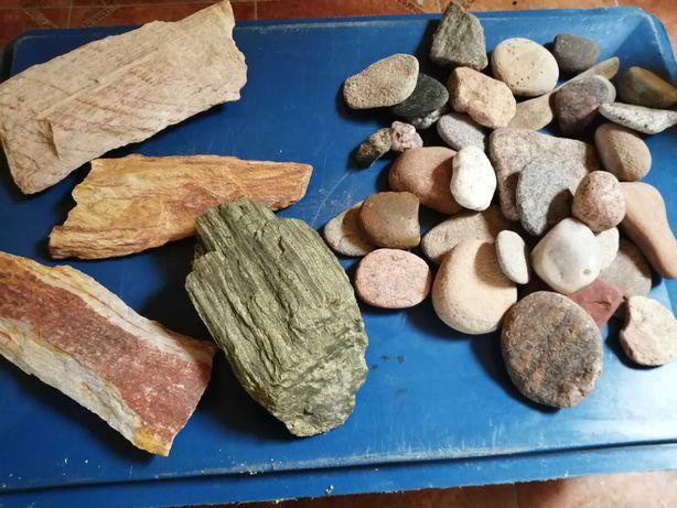 Kamienie do akwarium+podłoże Jbl