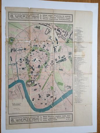 Plan Krakowa około 1910