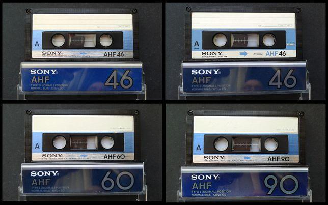 Аудиокассеты Sony AHF 46, Sony AHF 60, Sony AHF 90