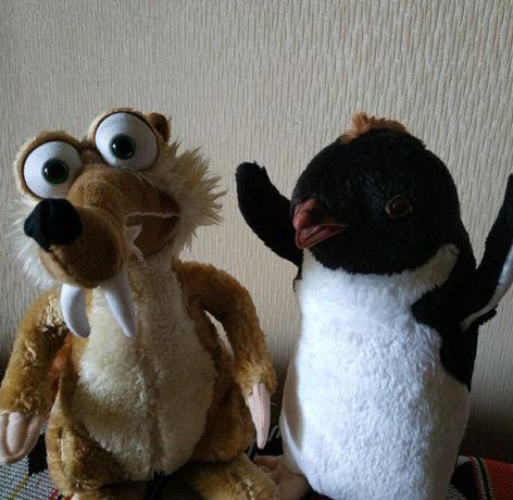 Игрушка Скрат белка ледниковый период Скрэт, мягкая игрушка пингвин