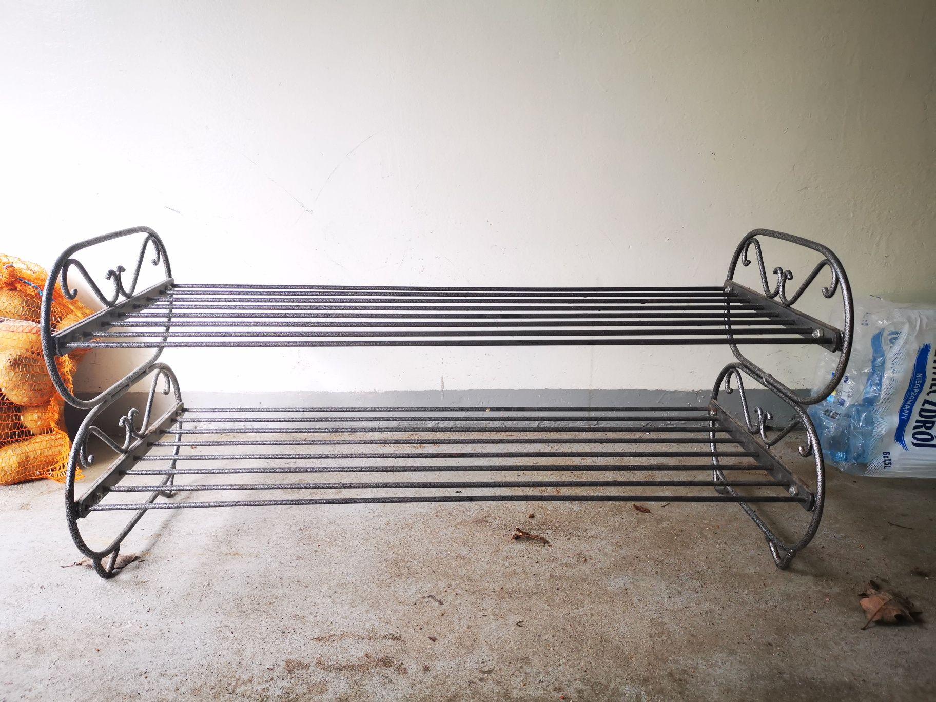 Metalowy stojak na buty 80 x 40 x 30 idealny