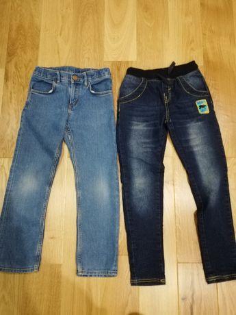 spodnie jeansowe chłopięce 128cm