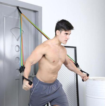 Elásticos de resistência treino kit de bandas fitness musculação latex