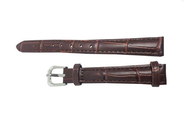 Pasek do zegarka Jinshoulian 12 mm. Brązowy