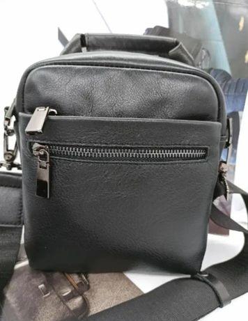 мужская кожаная сумка барсетка