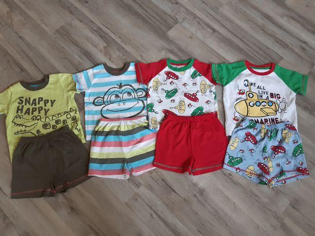 4 komplety piżamek na lato, rozmiar 12-18 m-cy