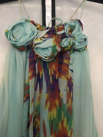 Sukienka w kwiaty Zara S jak nowa