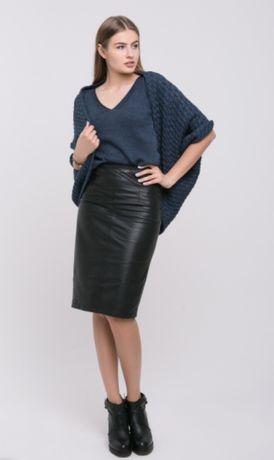Вязанное платье+кардиган+майка Sewel в цвете джинс, размер М
