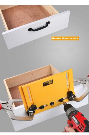 Кондуктор для сверления отверстий под мебельные ручки