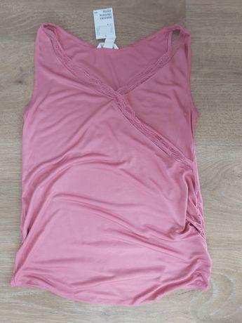 Bluzka ciążowa H&M Mama bez rękawów rozm. M