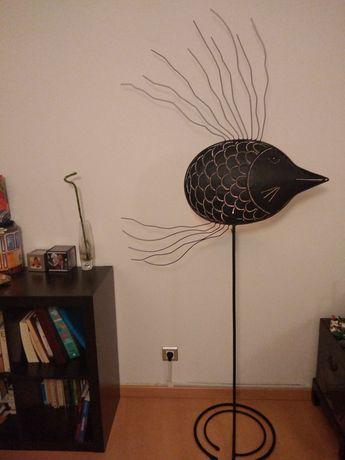 """Candelabro de pé alto """"Peixe Anjo"""" angel fish candle holder sculpture"""