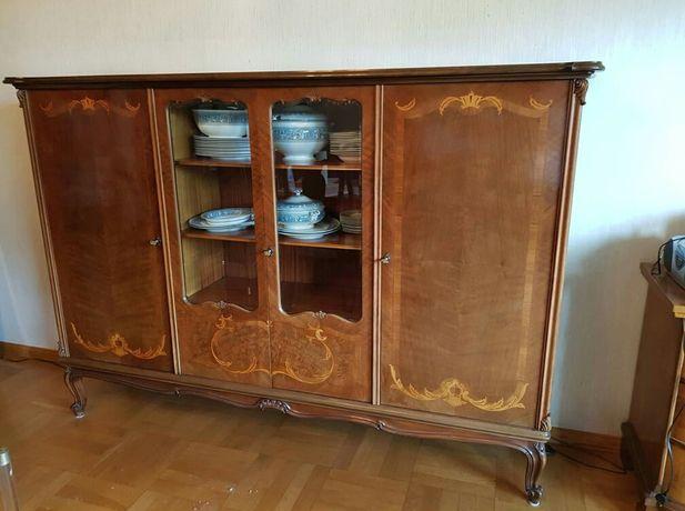 Witryna, styl Biedermeier, drewniana wysoka komoda, Dostawa GRATIS