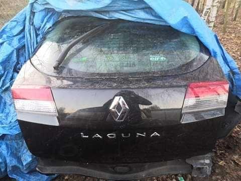 Renault Laguna 3 ph3 tylna klapa ,pokrywa bagaznika czarny metalik 10r
