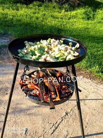 Сковорода из диска бороны + подставка для разведения огня САДЖ