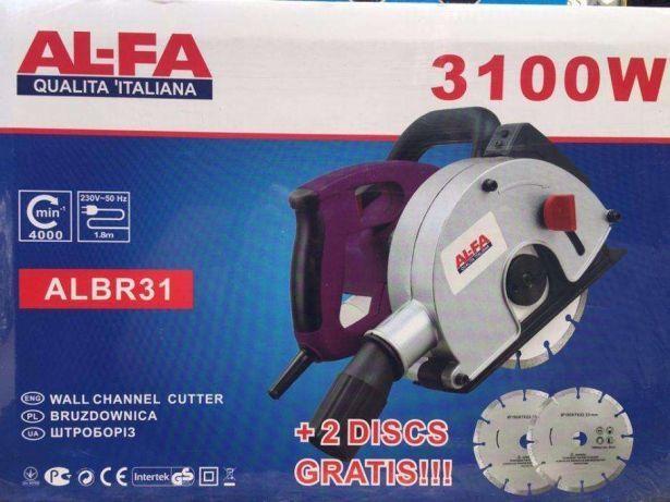 Штроборез(бороздодел) AL-FA 150-ALBR31 3100Вт, 150мм(4 диска)