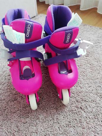 Patins de criancaPLAY3 ROSA Violeta Oxelo