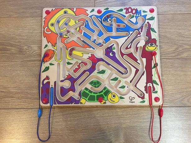 HAPE - kolorowe zoo magnetyczny labirynt