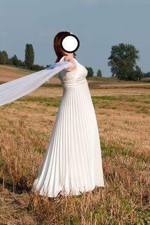 suknia ślubna r. 44 + gratis