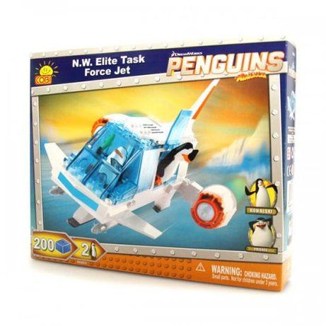 Klocki Pingwiny z Madagaskaru Force Jet samolot-NOWE