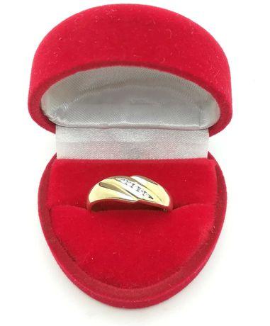 Piękny złoty pierścionek p585 3,35g R18