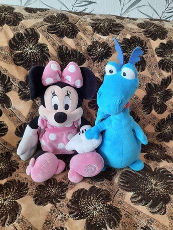 Мягкая игрушка Мини Дисней оригинал 45см и дракон 40 см