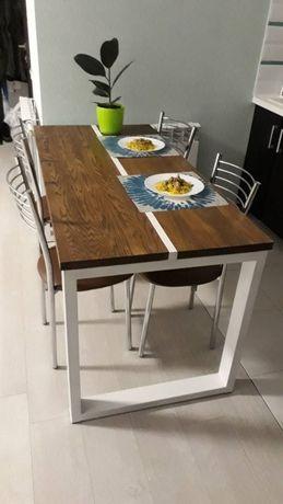 Столи з дерева + метал, лофт, LOFT