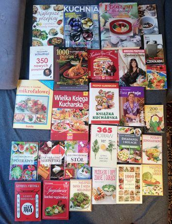 Zestaw 5-książki kucharskie-współczesne-27sztuk.
