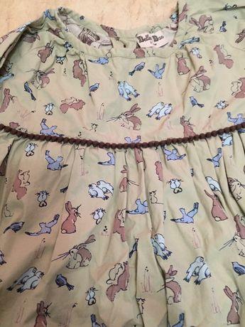 Платье плаття нарядное с принтом коттон 92-98-104см 2-3-4лет рочків