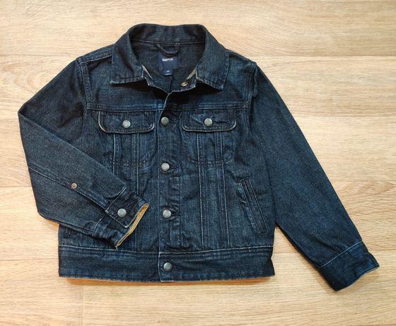Gap kids джинсовая куртка детская темно-синяя демисезонная унисекс