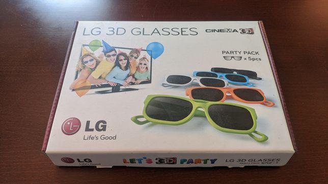 Okulary pasywne 3D LG zestaw