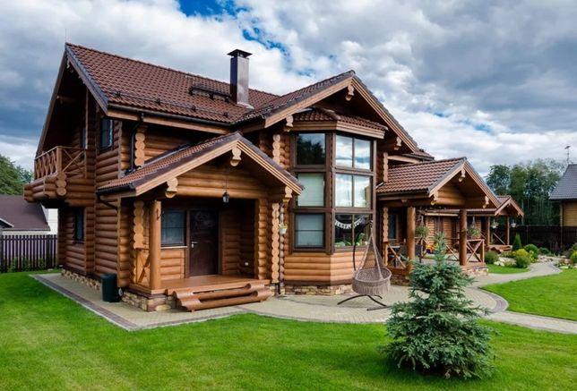 Строительство деревянных домов срубов.