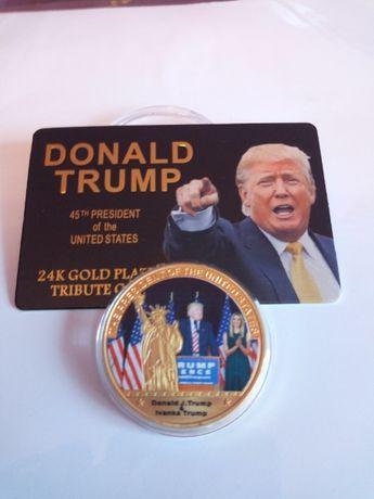 Donald Trump i Ivanka, moneta z certyfikatem 40*3mm medal